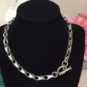 Jewelry - Biker Goth necklace silver plated